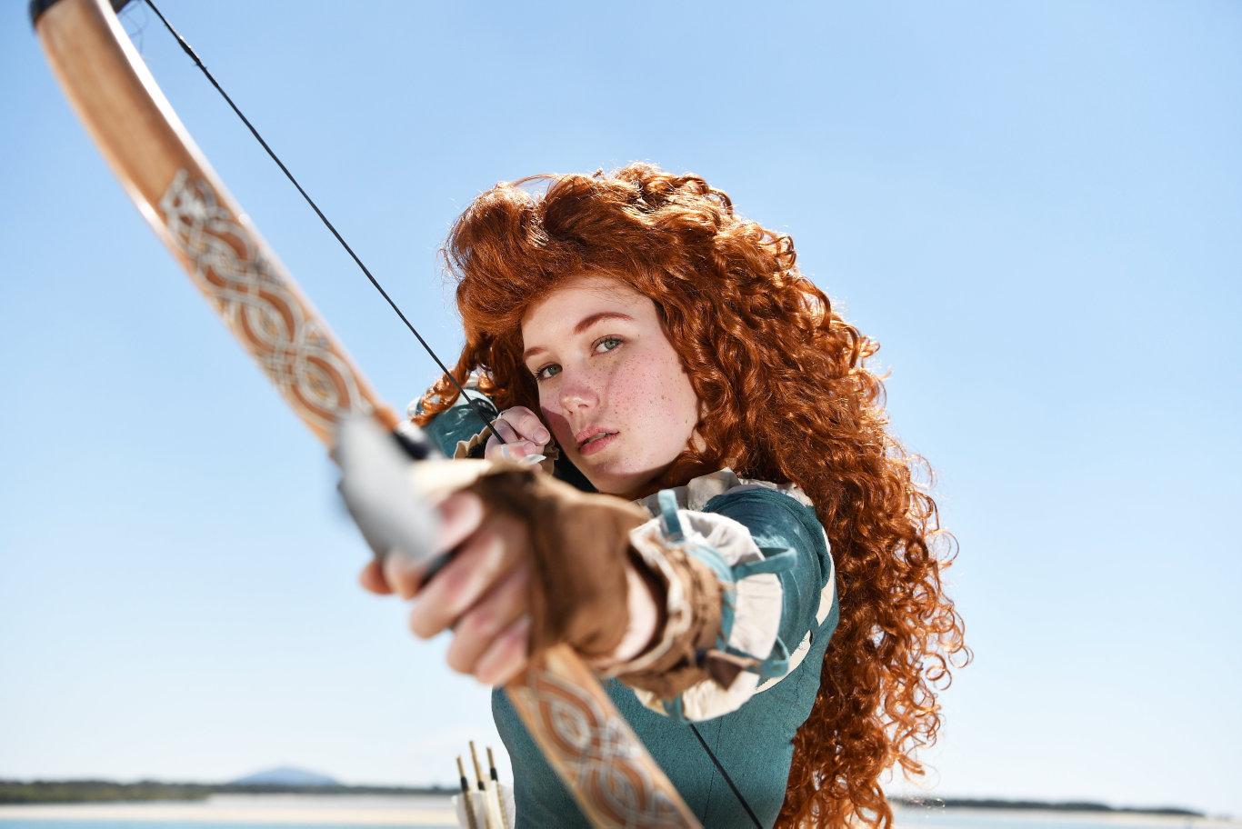 Natasha Jade as Merida from Disney's Brave. Photo: Patrick Woods