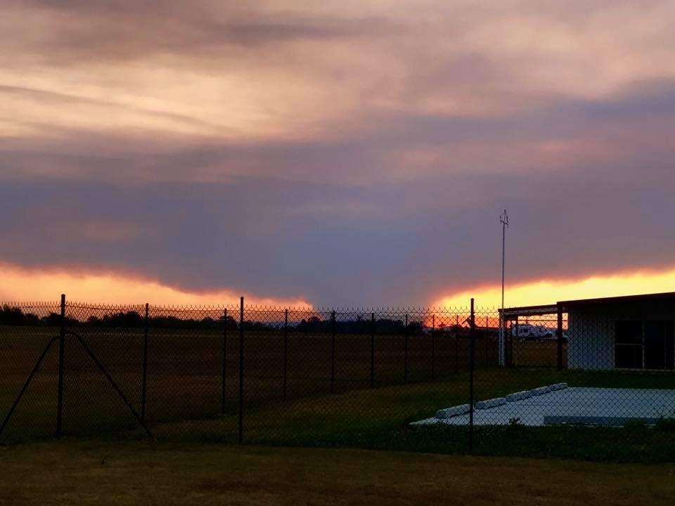 A smoke cloud caused by the Drake bushfire.