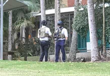 Police have been spotted on Southern Cross University's Lismore campus.