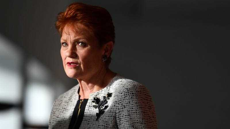 One Nation leader Senator Pauline Hanson arrives at a press conference at Parliament House in Canberra, Tuesday, September 17, 2019.