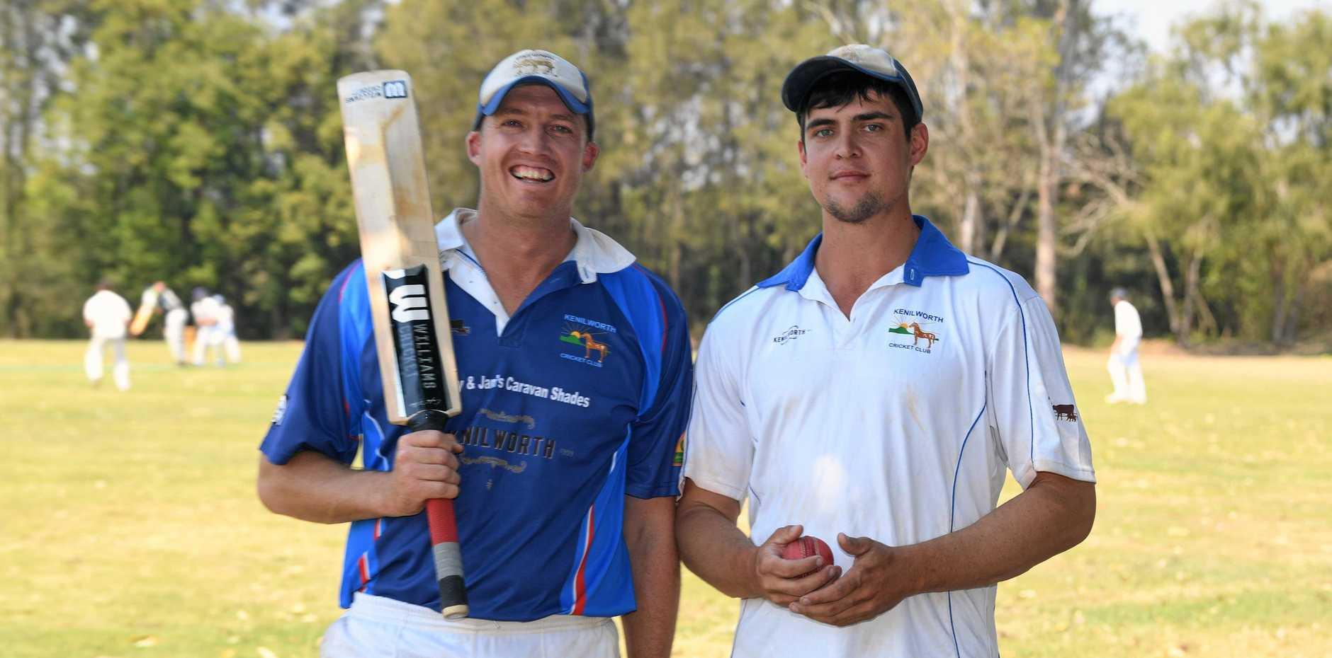 Gympie Cricket - Kelvin Cochrane and Tyron Blinco