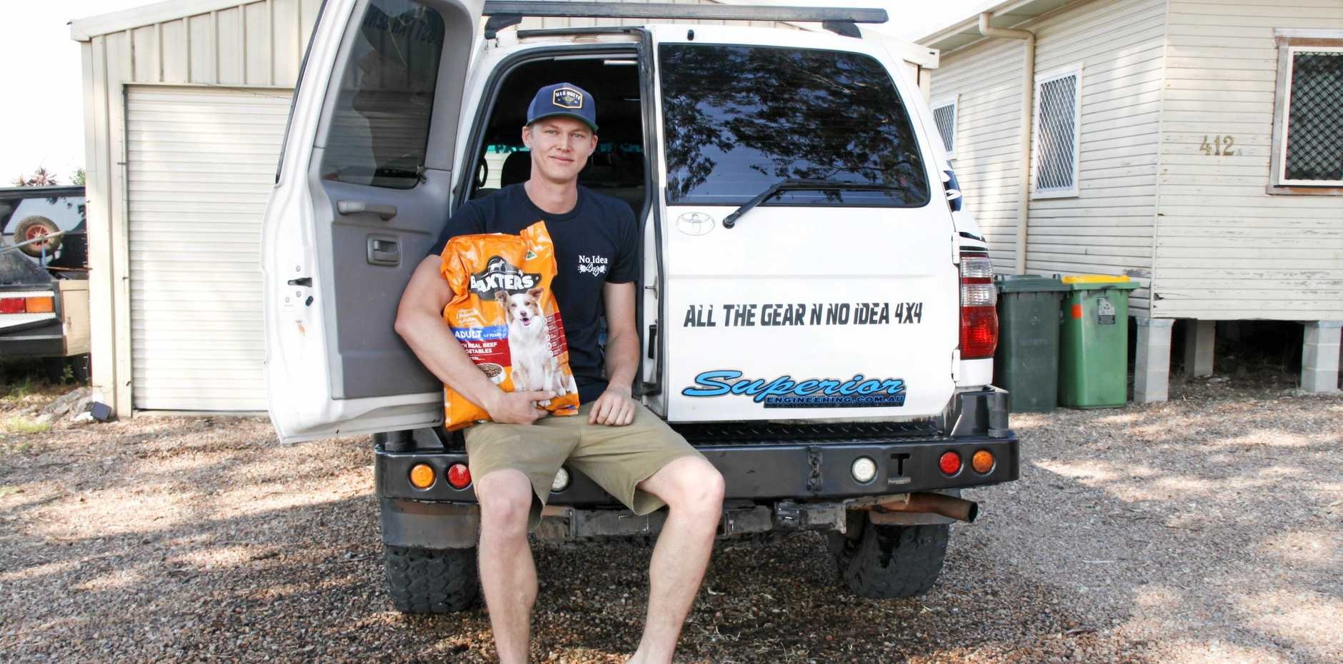 DRAKE FUNDRAISER: Mitchell Dowse, 26,  has created a social media campaign to raise funds to purchase water non-perishables for the residents of Drake who have been impacted by the Long Gully Road Fires over the past 10 days.