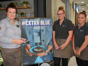 Local cafe turns an extra shade of blue