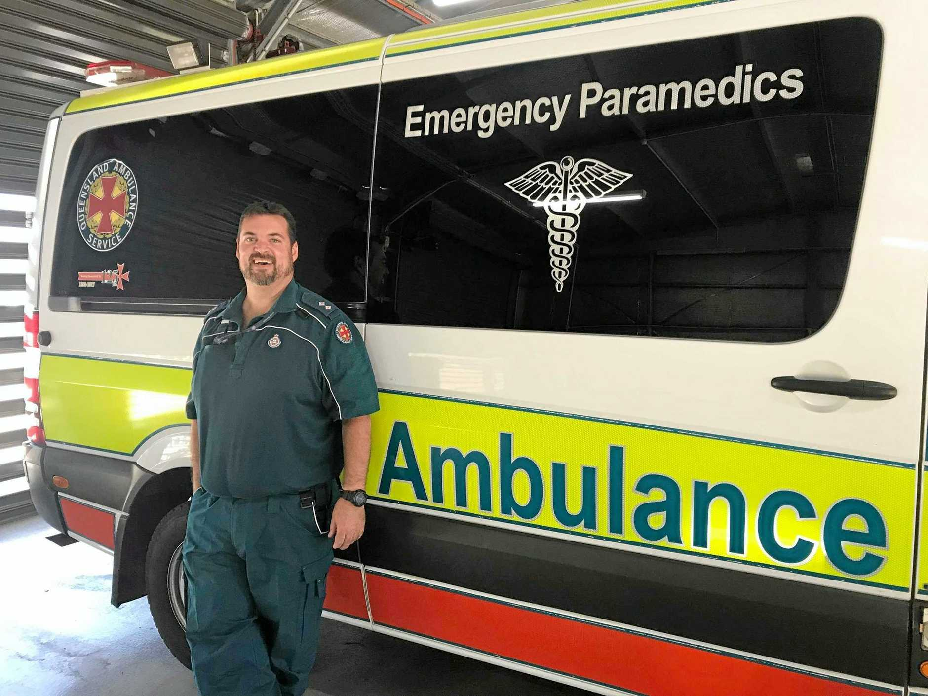 It's a family affair for Michael Formica who is the officer-in-charge at Murgon Ambulance Station and his wife Natalie is a paramedic in Gayndah.