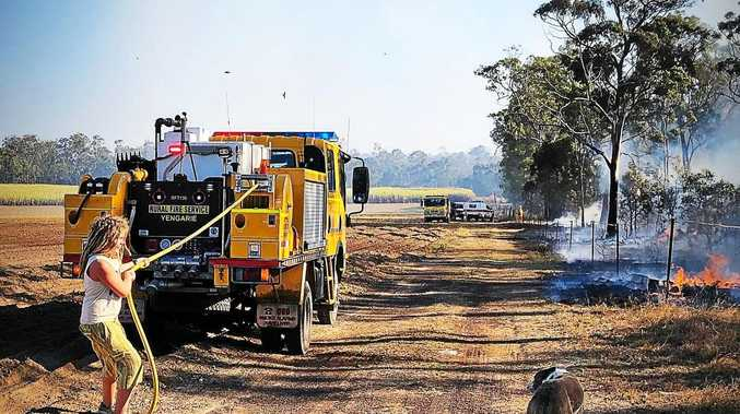 DANGER: Fear as fire burns near Fraser Coast family's home