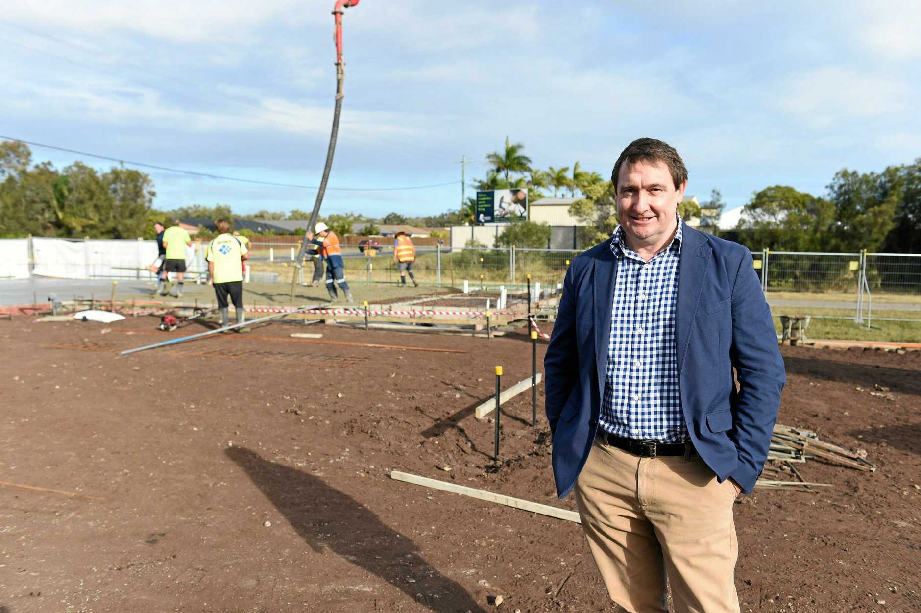 GREEN SHOOTS: Fraser Coast property boss Glen Winney says the region is no longer on a 'boom and bust' cycle.