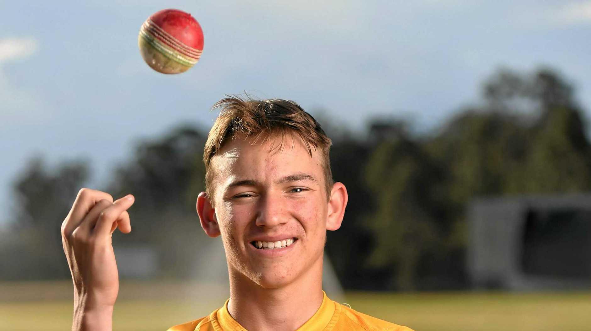 Ipswich cricketer Dylan McAteer.