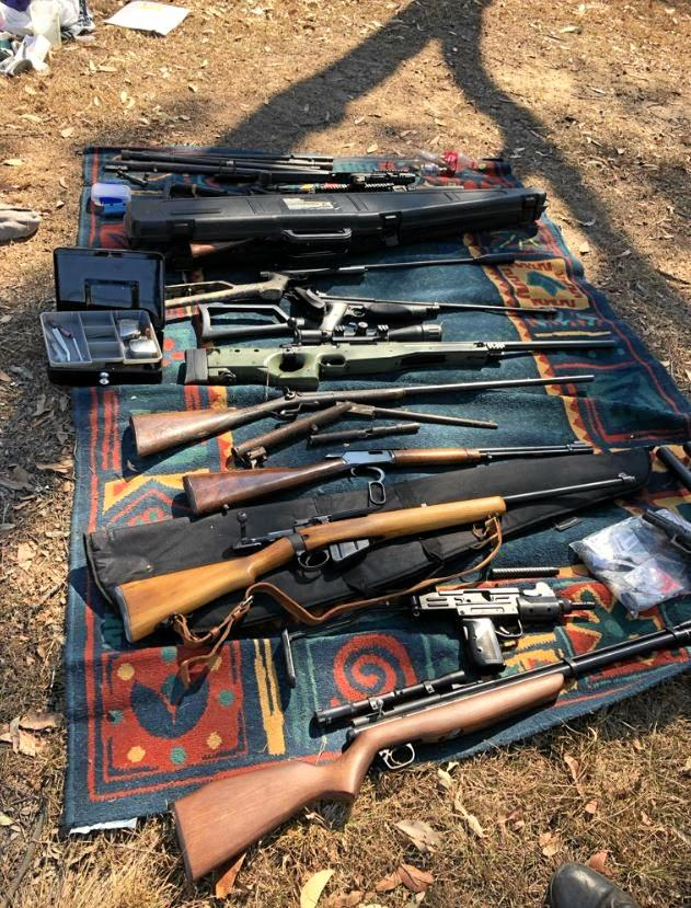 More than 40 firearms, ammunition and firearm parts have been seized by Wide Bay Burnett Tactical Crime Squad, Maryborough CIB and Australian Border Force officers.