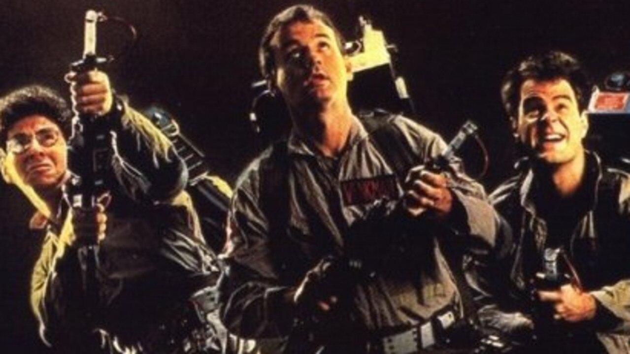 Harold Ramis, Bill Murray and Dan Aykroyd in 1984 film Ghostbusters.
