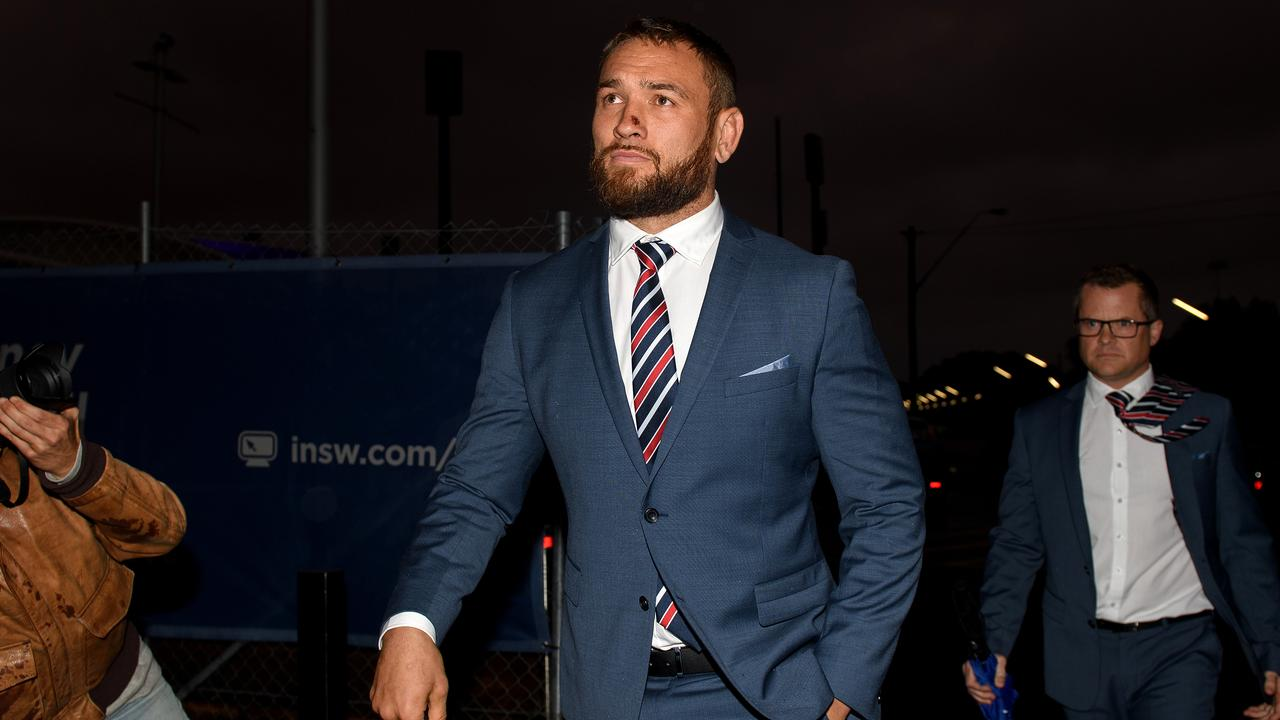 Waerea-Hargreaves faces the bad weather at the NRL judiciary. Photo: AAP Image/Dan Himbrechts