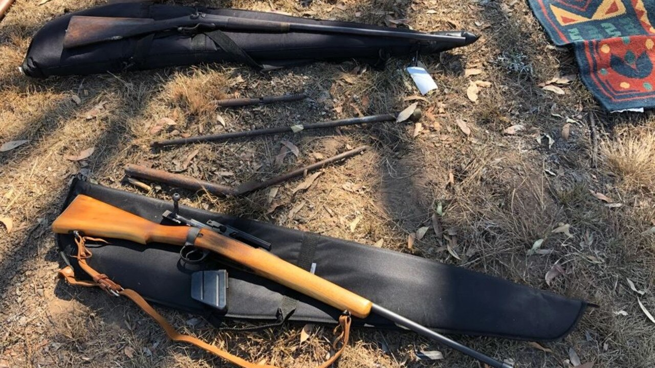 HAUL: Police have seized more than 40 firearms, illicit drugs and a hand grenade during a raid carried out on a Torbanlea property on September 13.