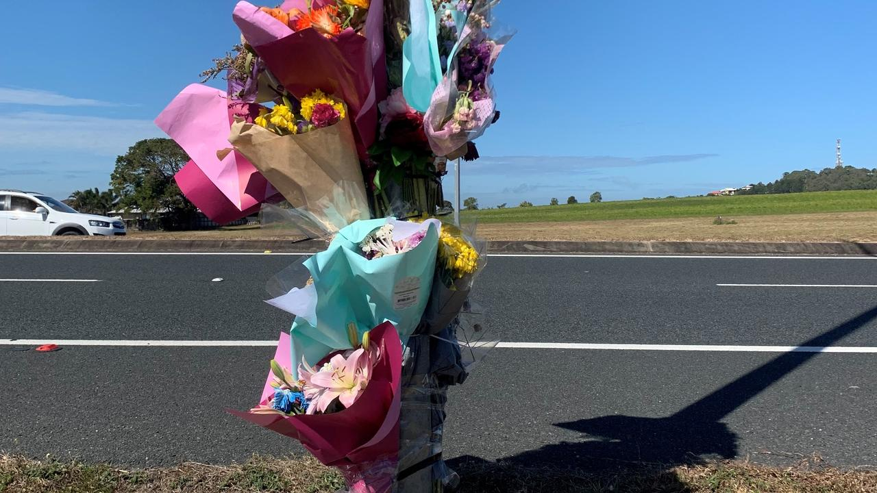 TRIBUTE: A memorial set up at the crash site on Mackay-Bucasia Road for Jack Dunwoodie