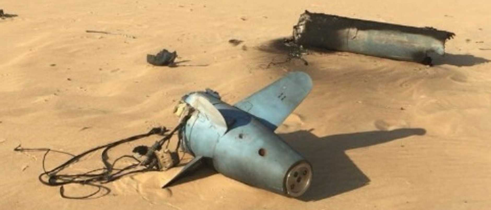 Another view of the wreckage purportedly from an Iranian cruise missile.
