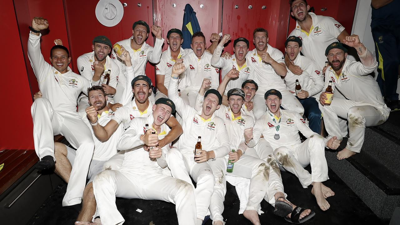 Australia celebrated hard after the victory that secured the Ashes would remain in their hands.
