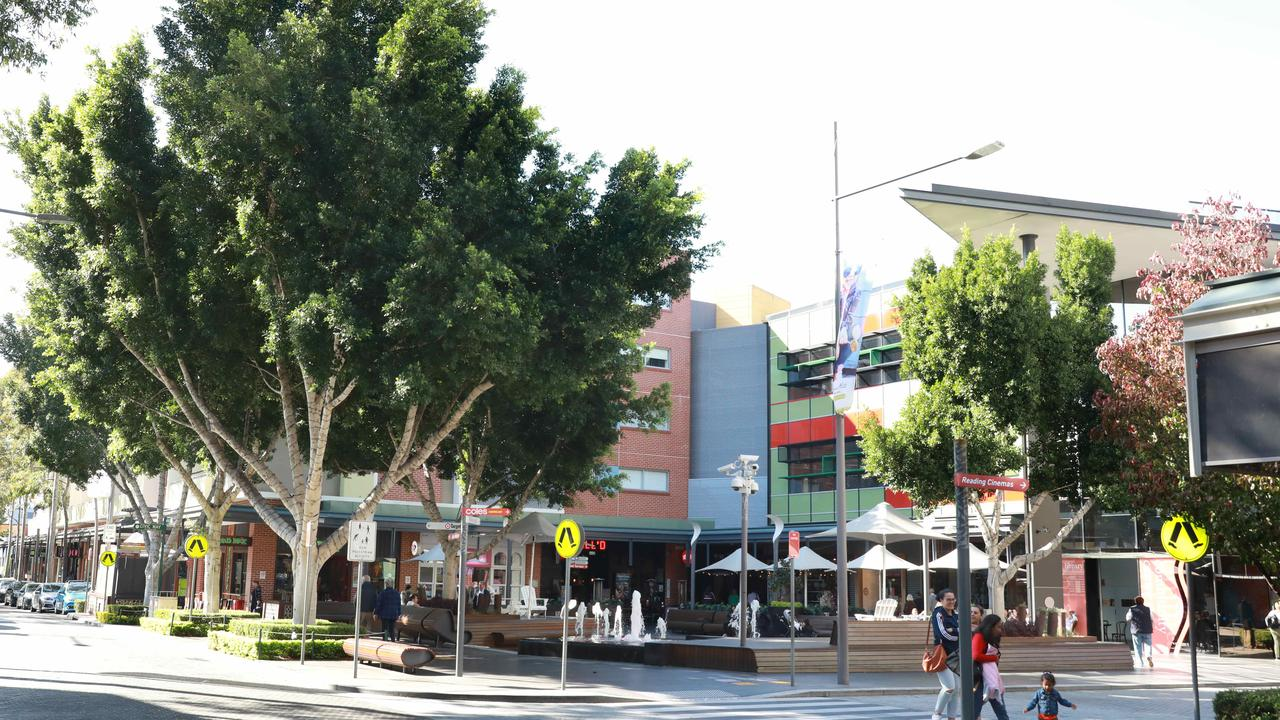 Looks like a town square, actually a shopping centre in Rouse Hill, in Sydney's north. Picture: Angelo Velardo/AAP