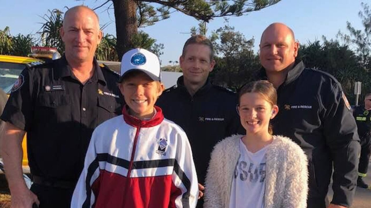 Peregian locals thanks their local fireys and intend to pay them back with funding support.