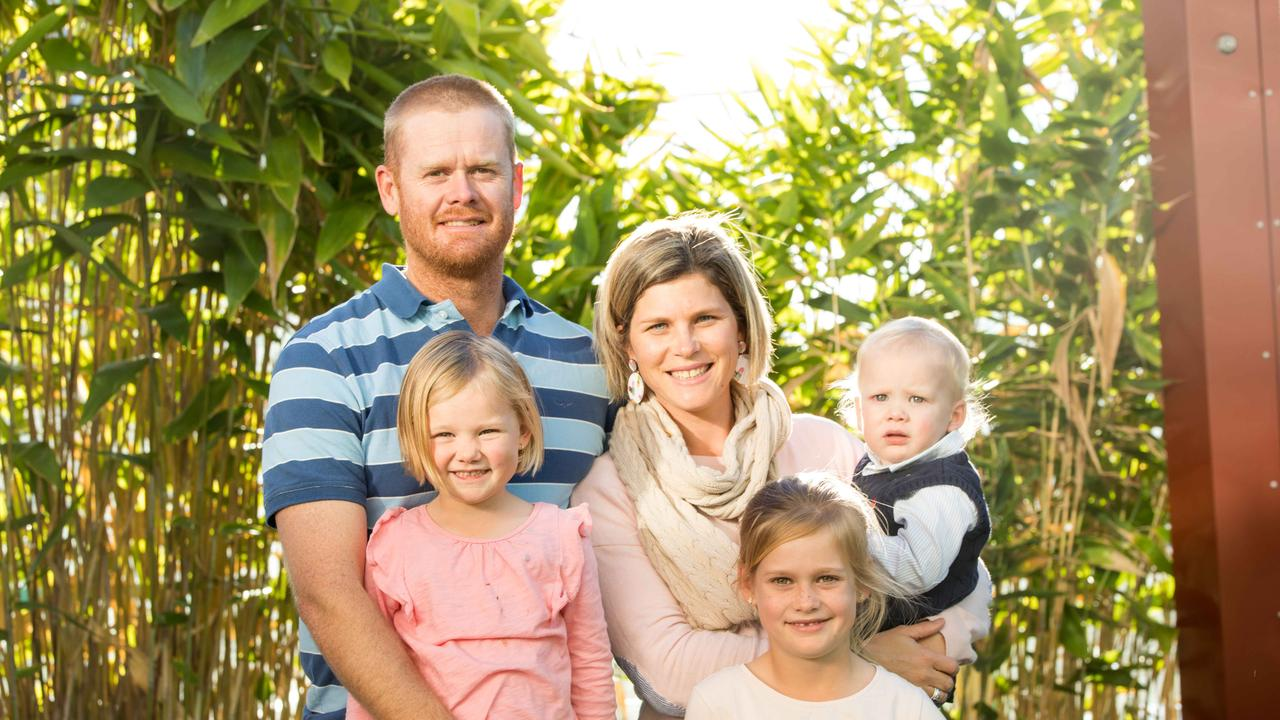 RAISING FUNDS: Cameron and Heidi Phillips with daughters Ela and Ayla and son Digby. Picture: Contributed