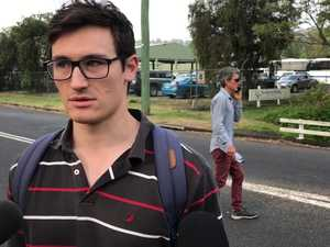 Student reacts to the police arriving at uni