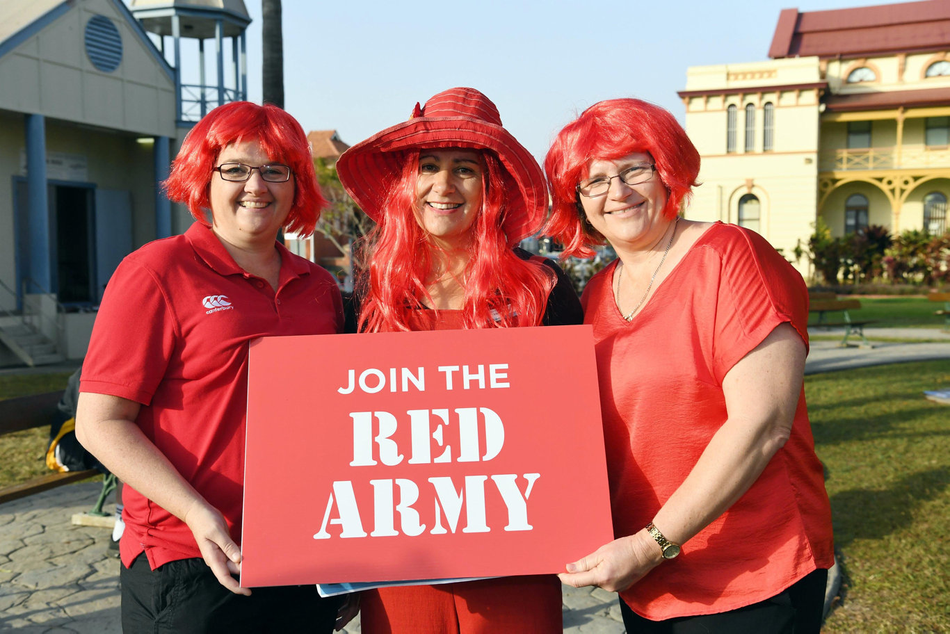 Redhead rally - (L) Suzy Ready, Vicky Miles and Heather Garrard.