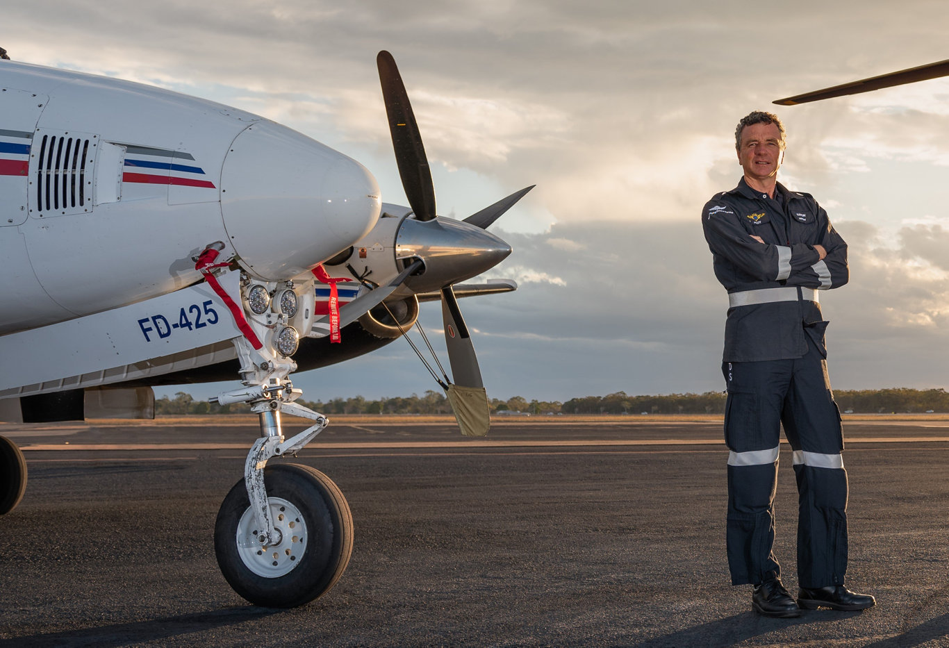 Royal Flying Doctor Service pilot Haydn Frisby says it's the happy moments that remind him why he does what he does.