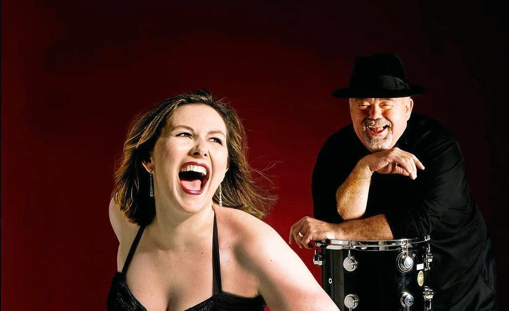 JAZZY: Jackie Cooper vocals and John Morrison on drums are part of John Morrison's All Stars performing at the Crommelin Native Arboretum at 2.30pm on Sunday, October 6.