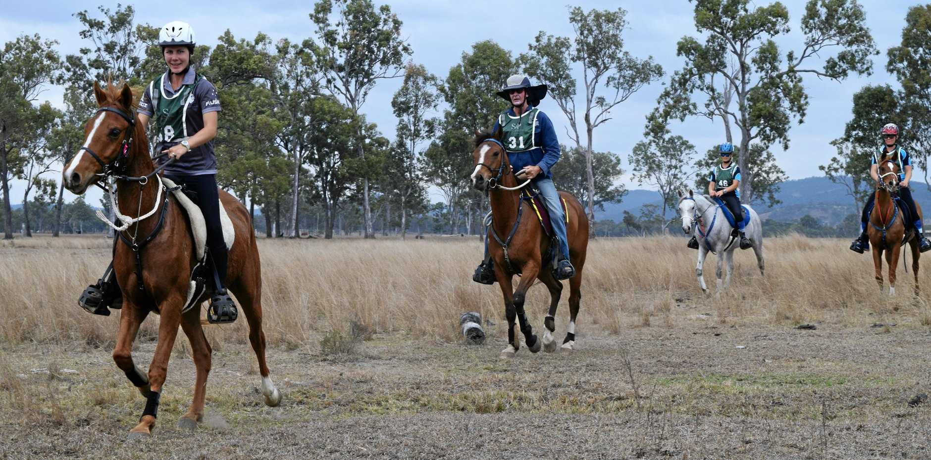 SADDLING UP: Competitors will be back on Saturday to participate in the annual Biggenden Endurance Ride.