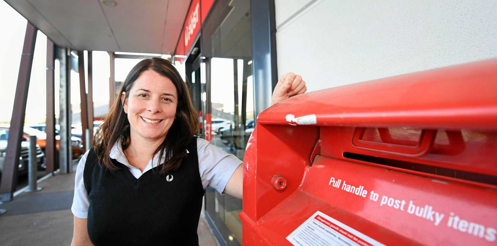 STAMP OF APPROVAL: Australia Post Hervey Bay Postal manager Kirsten Johnston is excited about the new state of the art office at the southern end of Stockland's Shopping Centre.