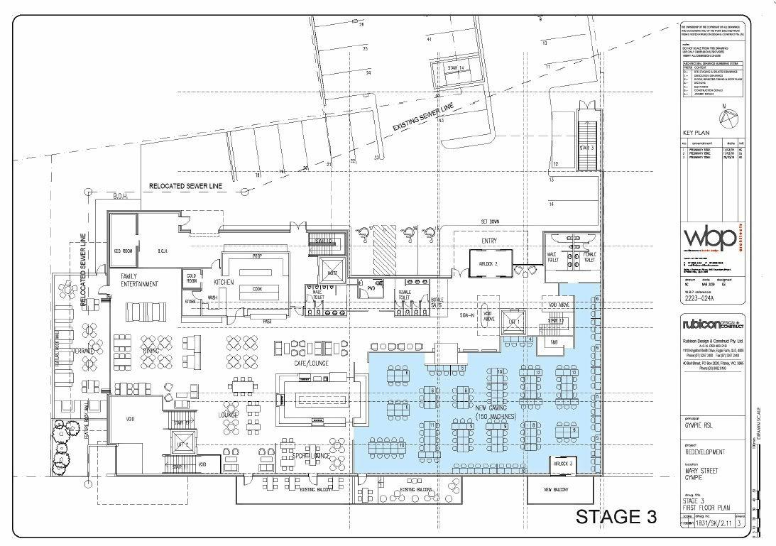 Gympie RSL floor plan concept
