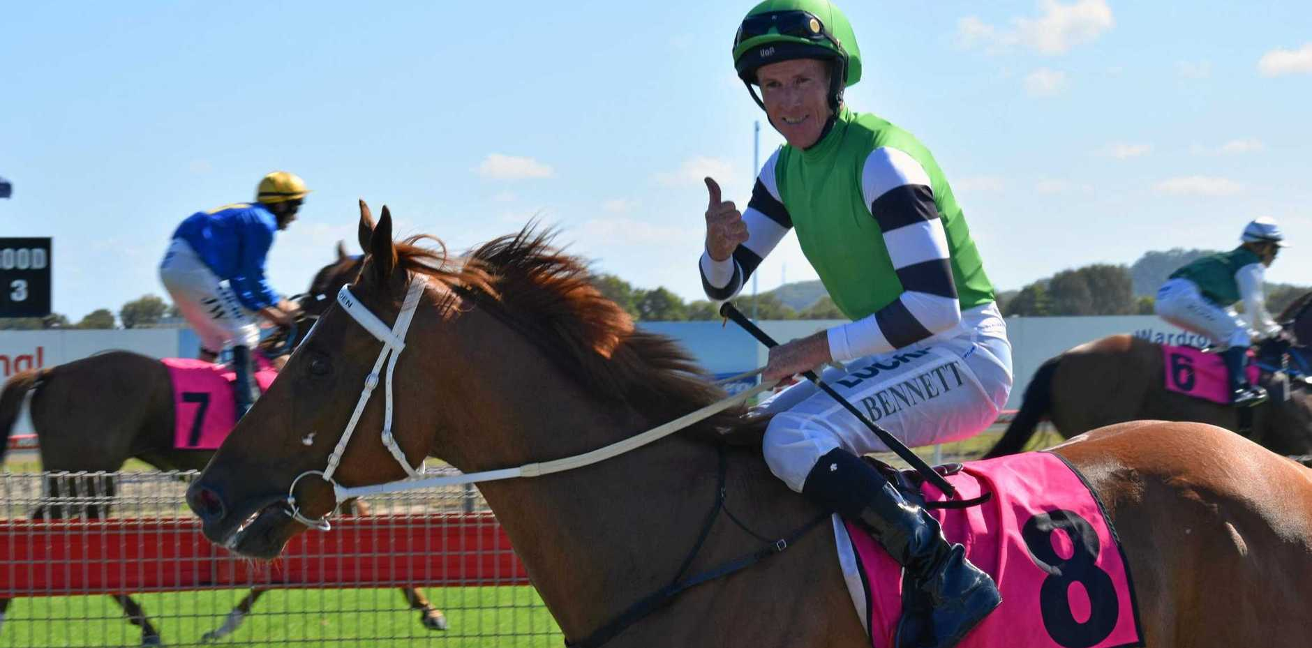Jockey Matthew Bennett will ride the Ethan Ensby-trained Partnership in the $75,000 Lismore Cup tomorrow.