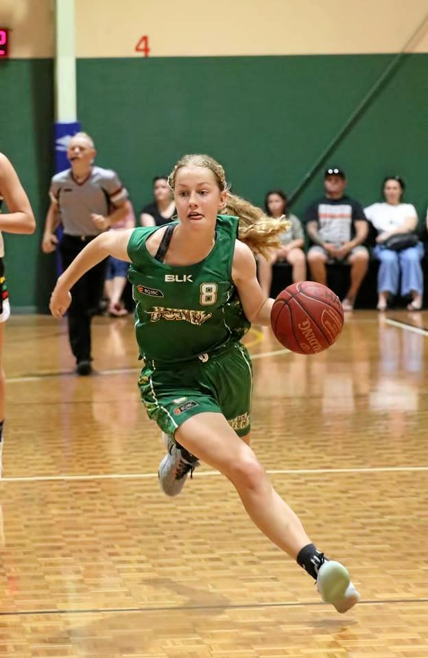 West Moreton Anglican College student and Ipswich Force state league basketballer Catherine MacGregor.