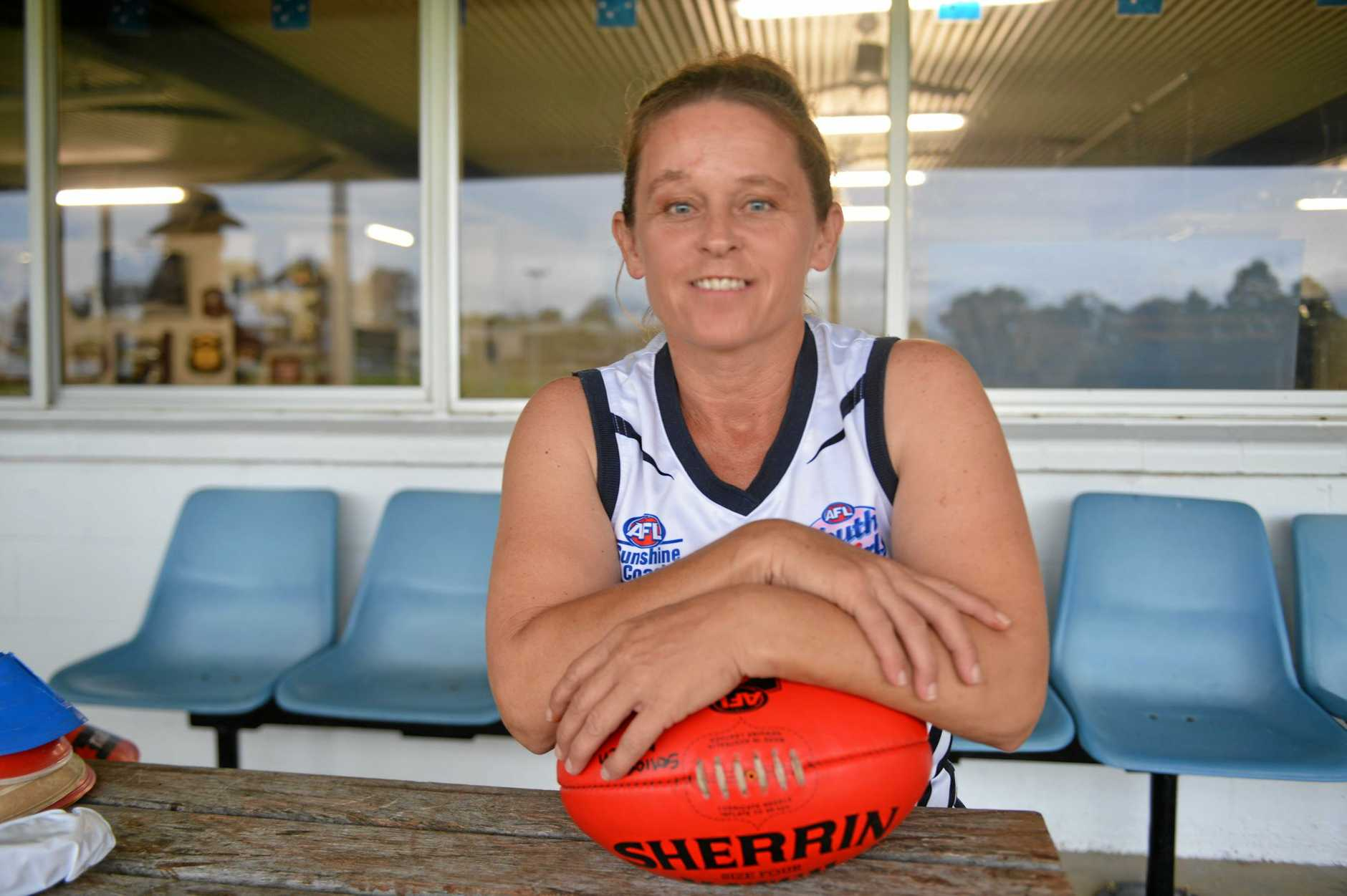 FIERCE: Gympie Cats women's captain Jodie Jones wants to be a role model for younger girls.