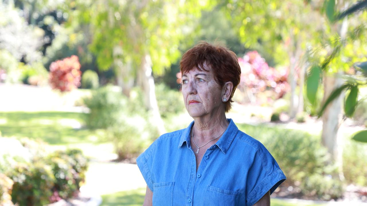 Judy McInnes, the wife of the late Bob McInnes, is scared about the thought of losing her late husband forever with the proposed road upgrade at the RSL memorial garden site.