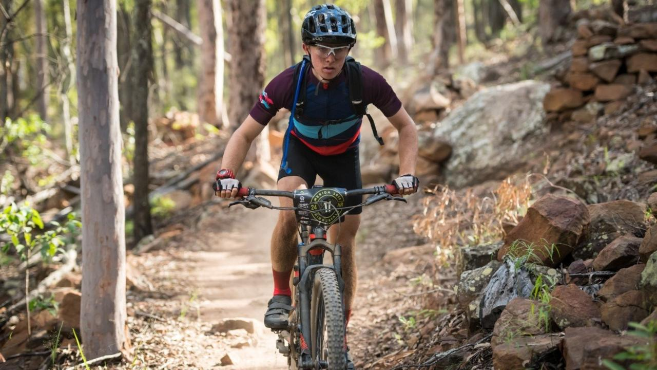 Kristian Kjaer recently competed in the 2019 Merida 24-hour and four-hour mountain biking event at Hidden Vale Adventure Park. He is now taking on a 1300km solo ride to Sydney for charity. Picture: Element Photo and Video Productions