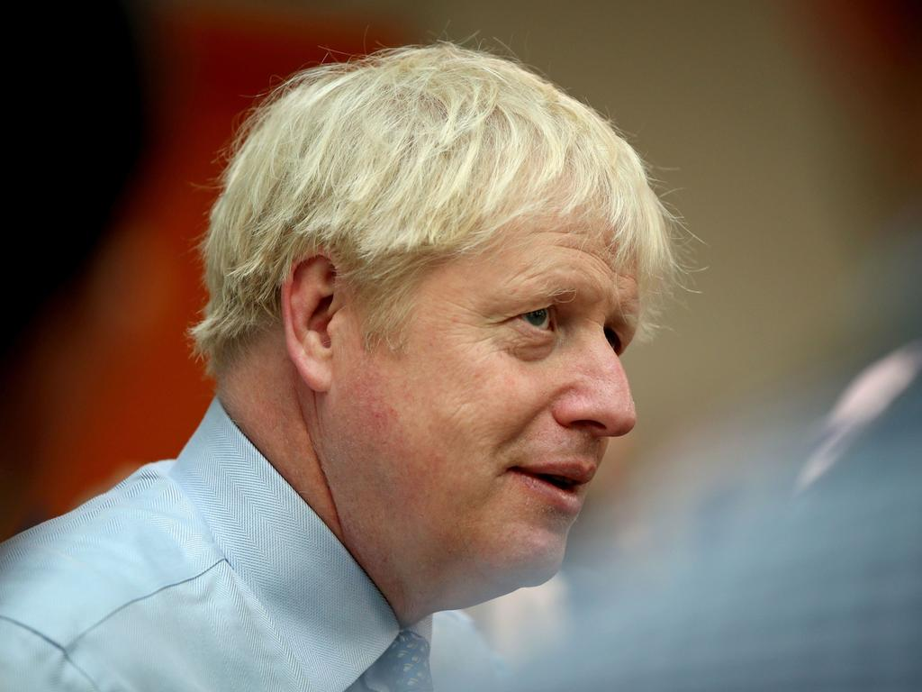 Britain's Prime Minister Boris Johnson visits Whipps Cross University Hospital in Leytonstone, east London. Picture: AP