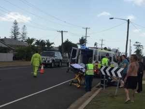 Man injured after two-vehicle crash