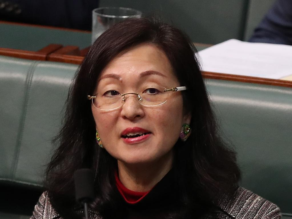 Gladys Liu during Question Time in the House of Representatives. Picture: Kym Smith