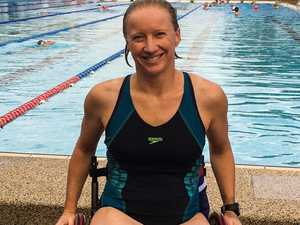 Wheelchair user swimmer swamped with support