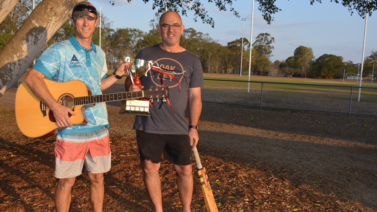QAL's Tony Wroe and BSL's Nigel Fritz (right). Fritz will also play in Under The Trees with local band The Bucket List.