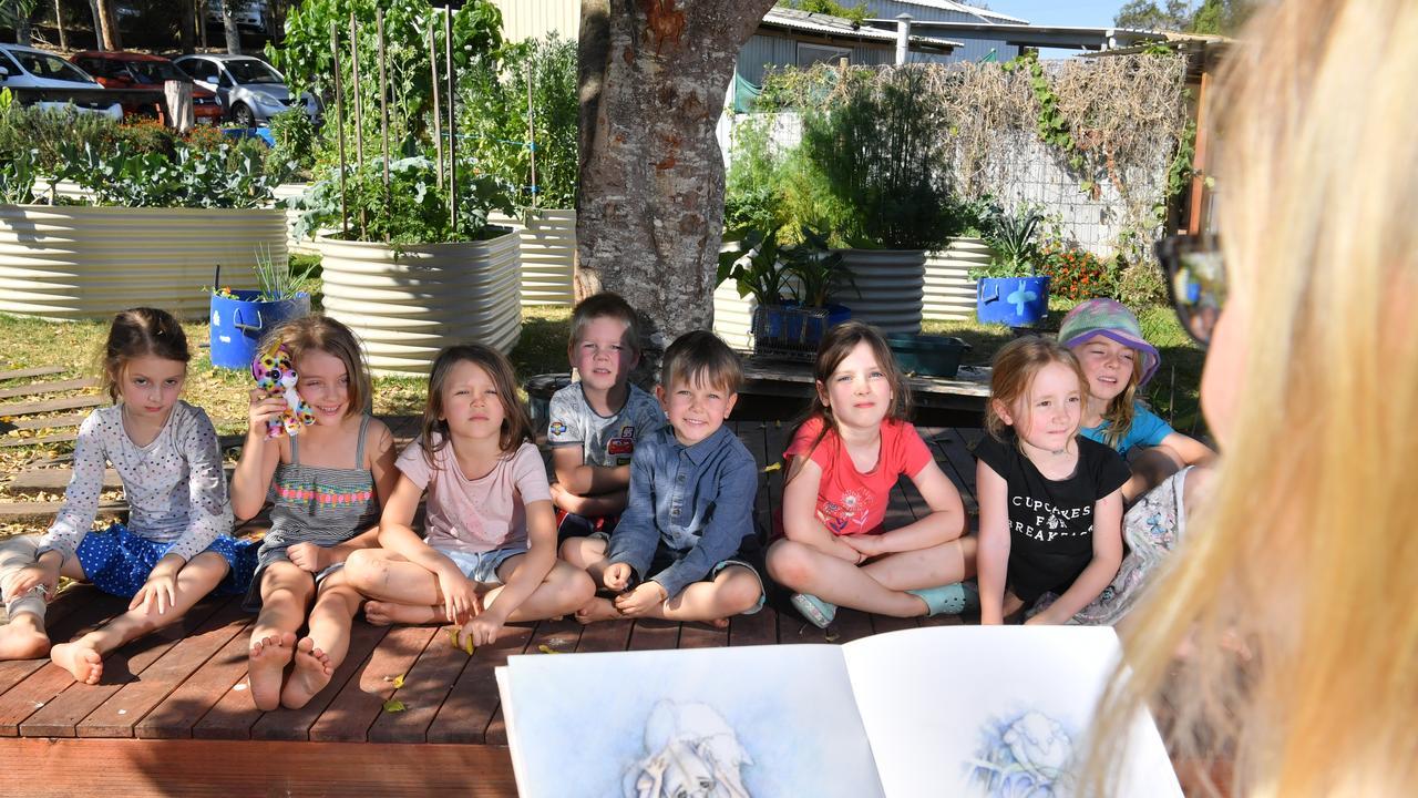 Sofia, Jarrah, Maya, Angus, Tulley, Arabella, Leo and Lara of Blackall Range Independent School. Photo: John McCutcheon / Sunshine Coast Daily