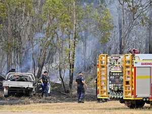 Police seek driver who fled before bushfire