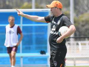 Brisbane Roar first training session at the Fraser