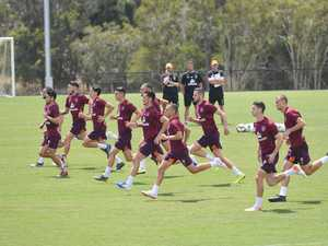 Brisbane Roar Training on Fraser Coast