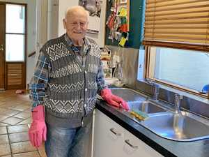 Worker Werner cleans up at 91