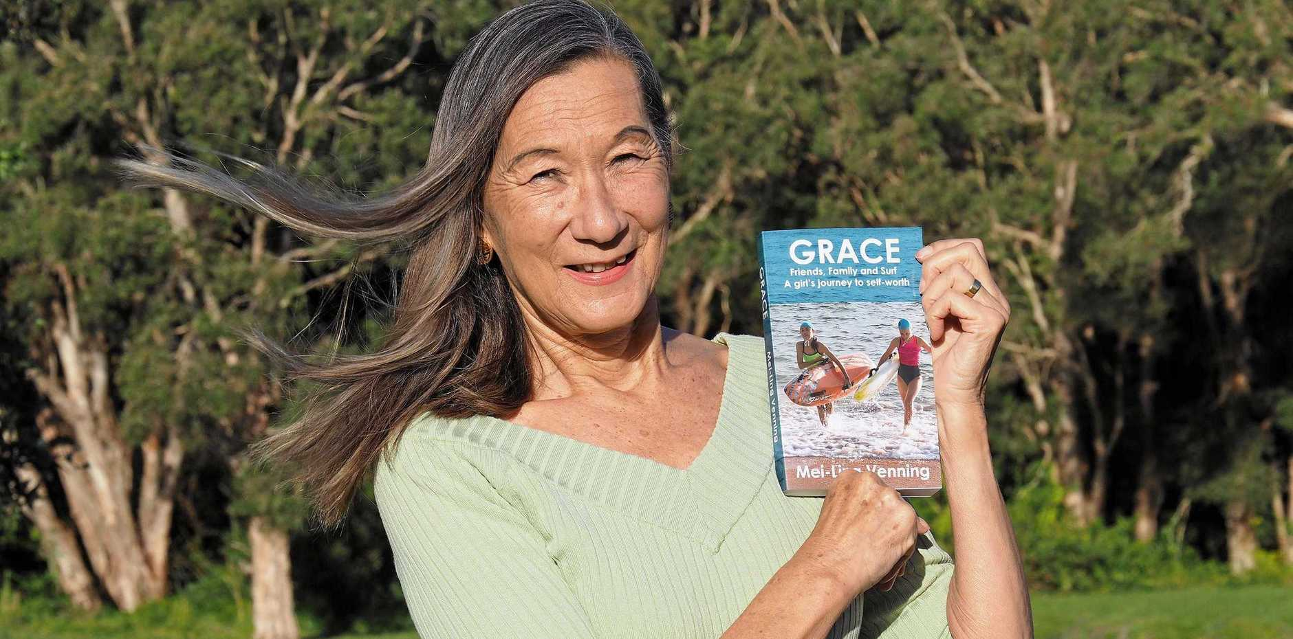 GRACE: Mei-Ling Venning is ready for the launch on September 28 of her new book, which deals with friendship, family, bullying, attitudes to people with disabilities, and the benefits of the surf lifesaving movement.