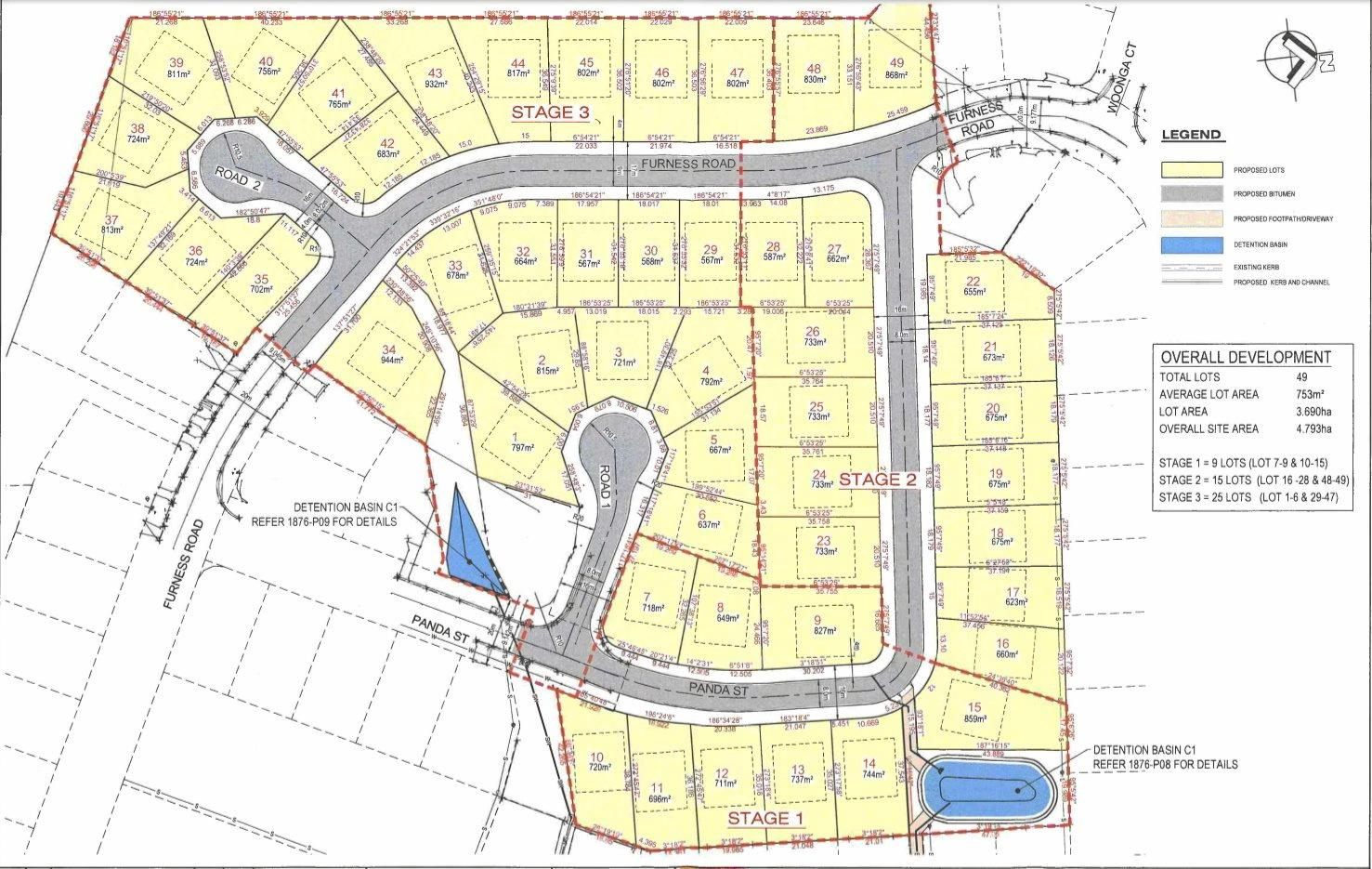 A 49-lot subdivision has been proposed at Southside.