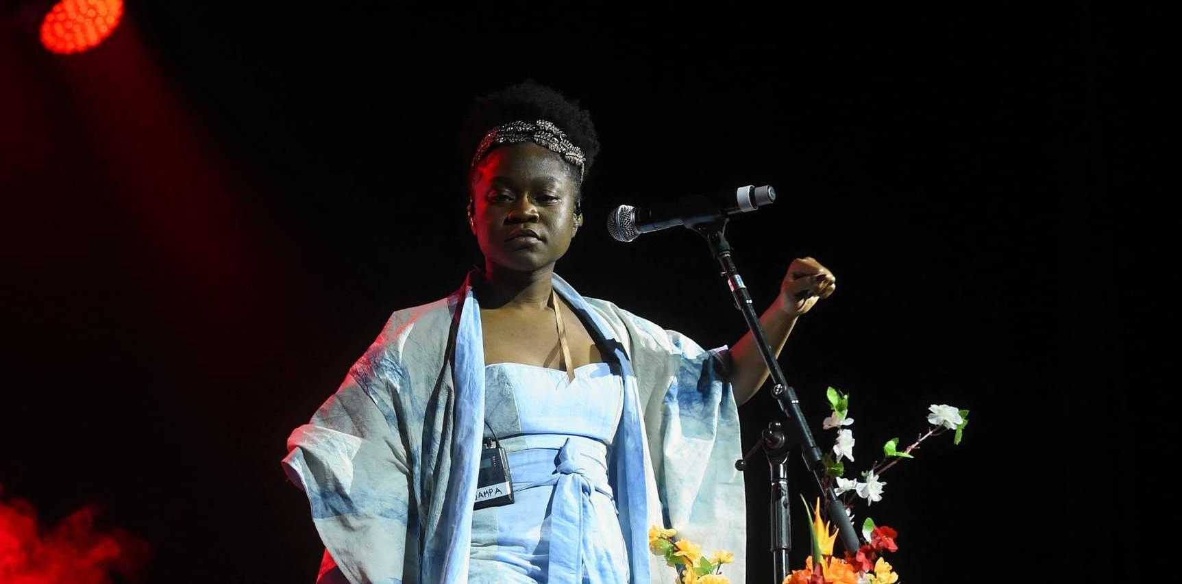 ON STAGE: Sampa the Great play Splendour in the Grass 2018.