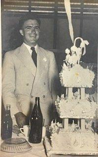 Peter Faust on his wedding day, January 9, 1954.