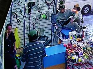 WATCH: Owner holds fast as alleged glue thieves strike
