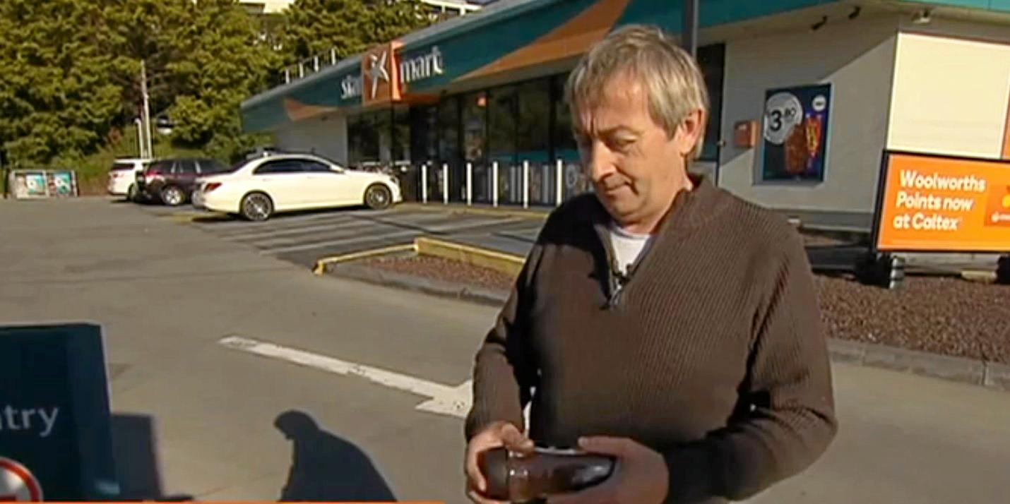 FOUGHT BACK: Jason speaks to Sunrise after he fought off an attacker with a Nescafe Blend 43 jar.