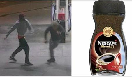 A Melbourne man has fought off a carjacker with Gympie's Nescafe Blend 43 jar. Pictured on the right is the man named Jason who fought off the attacker.